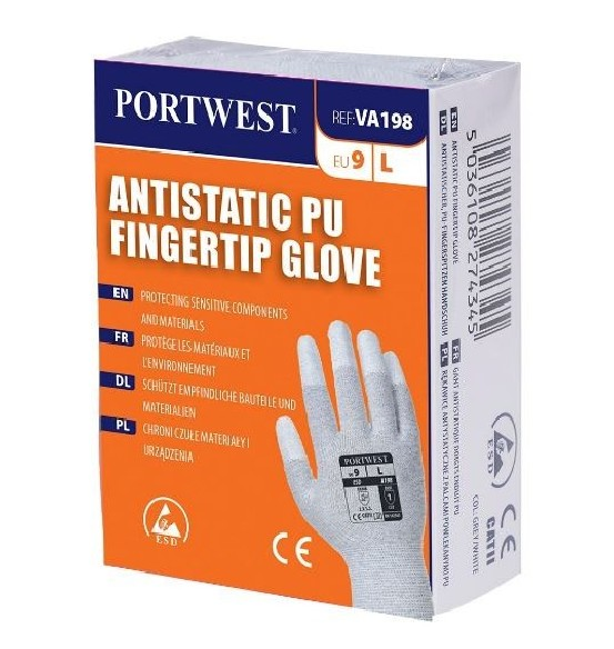 Lavable VENDING ANTISTATIC PU FINGERTIP GLOVE - VA198