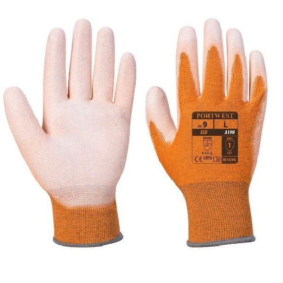 LAVABLE ANTISTATIC PU PALM GLOVE - A199