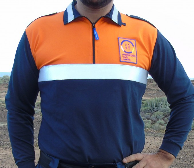 501/08 m/l camiseta polo proteccion civil CANARIAS