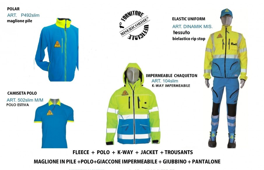 OFFERTA KIT slim MISERICORDIE UNIFORME COMPLETA