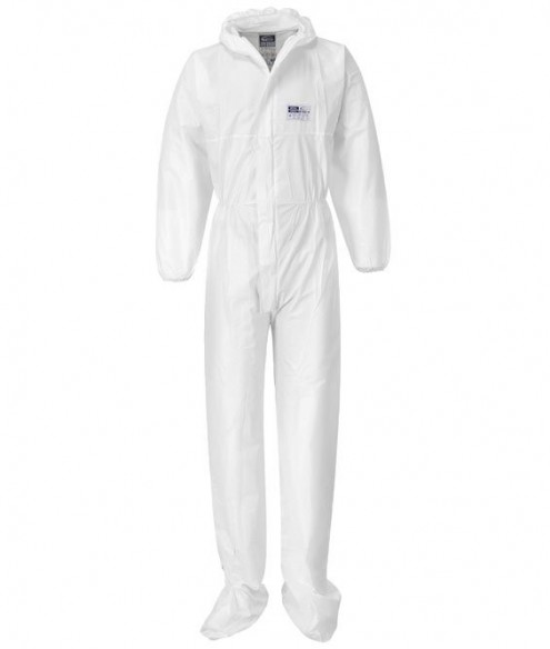 BIZTEX MICROPOROUS COVERALL WITH BOOT COVERS TYPE 5/6 - ST41