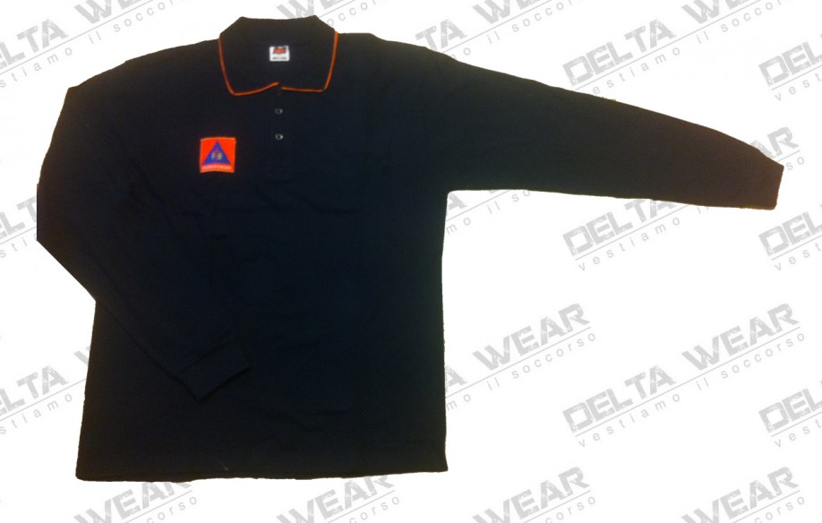 501/08 m/l camiseta polo proteccion civil