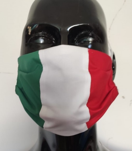 MASCHERINA ITALIA IN TESSUTO ANTIBATTERICO FFP2