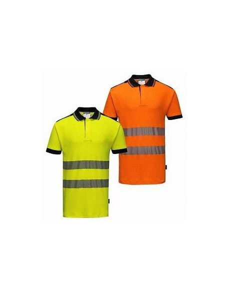 PW3 HI-VIS POLO SHIRT S/S - T180