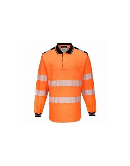 PW3 HI-VIS POLO SHIRT L/S - T184