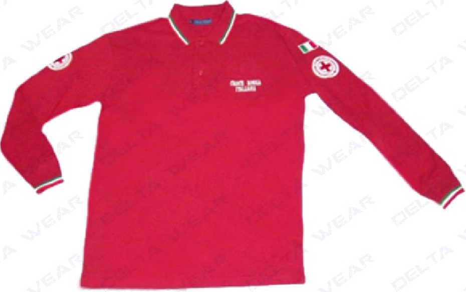 507R M/L CAMISETA POLO CRUZ ROJA
