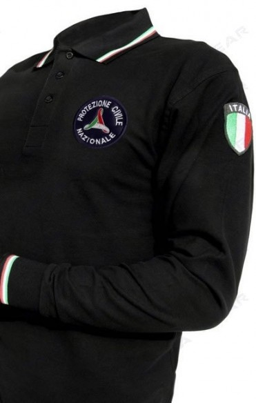 505 Tricolore m/l  POLO LONG SLEEVES