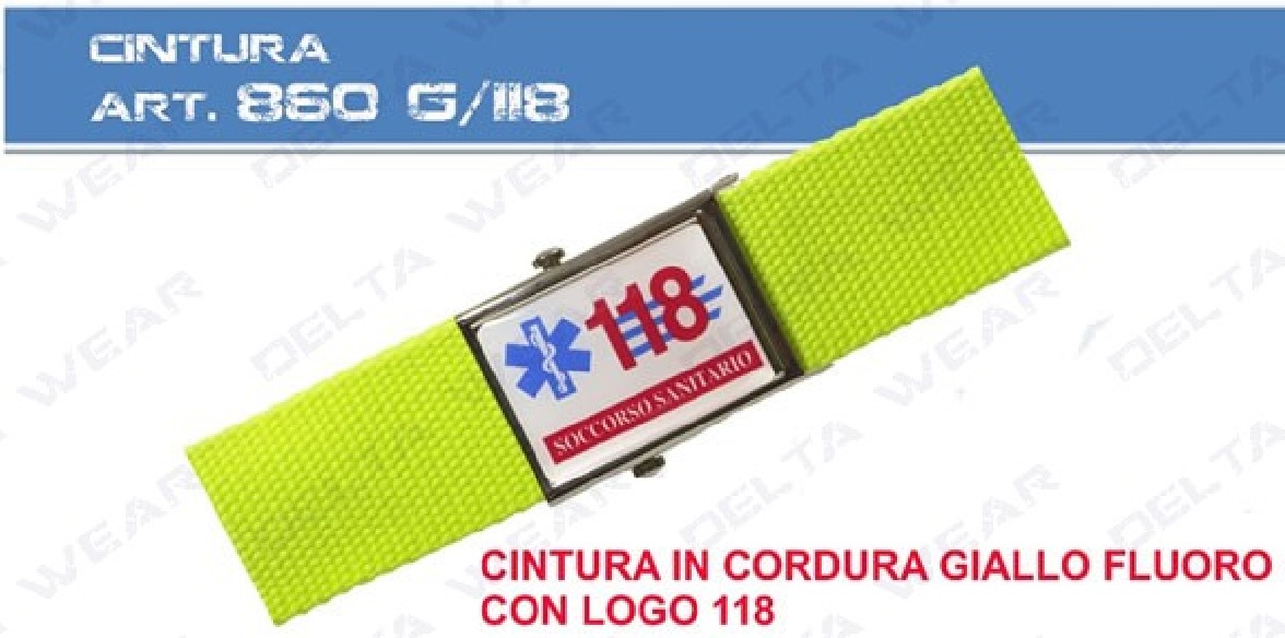 860 G - CINTURA SOCCORSO 118