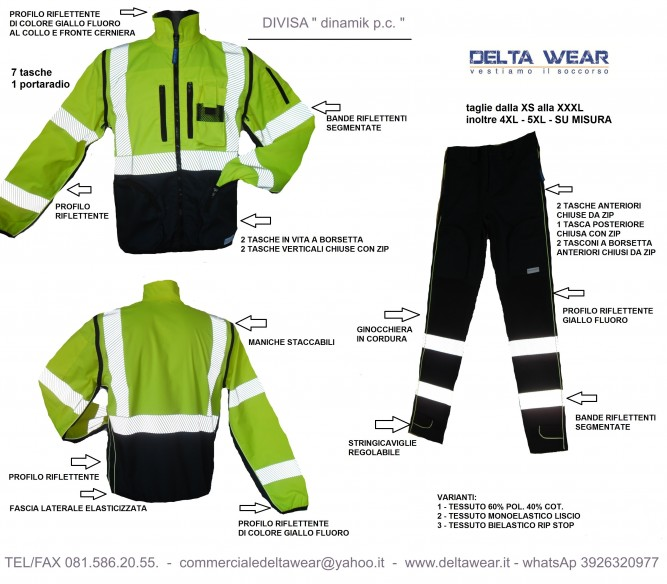 DINAMIK P.C. UNIFORM cot./ pol. fabric