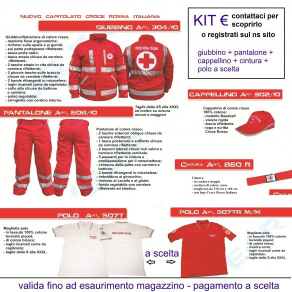 offerta kit estivo croce rossa