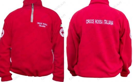P496 maglione pile CROCE ROSSA