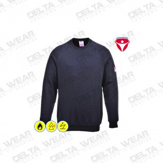 FLAME RESISTANT ANTI-STATIC LONG SLEEVE SWEATSHIRT - FR12