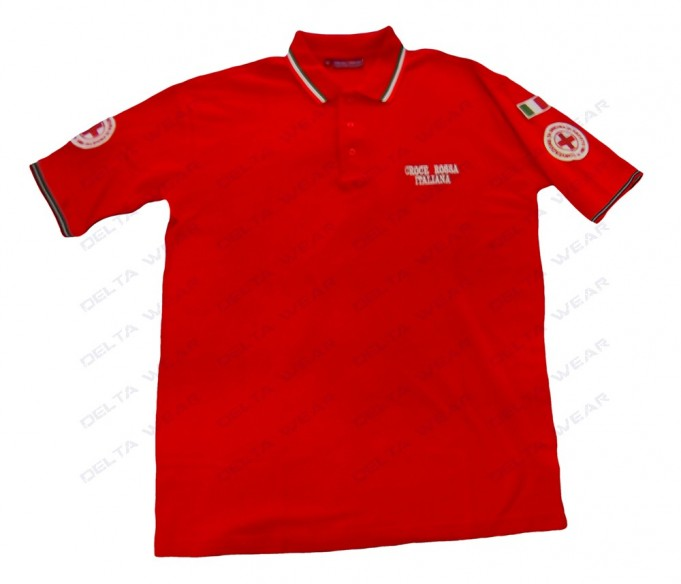 507T M/M CAMISETA POLO CRUZ ROJA