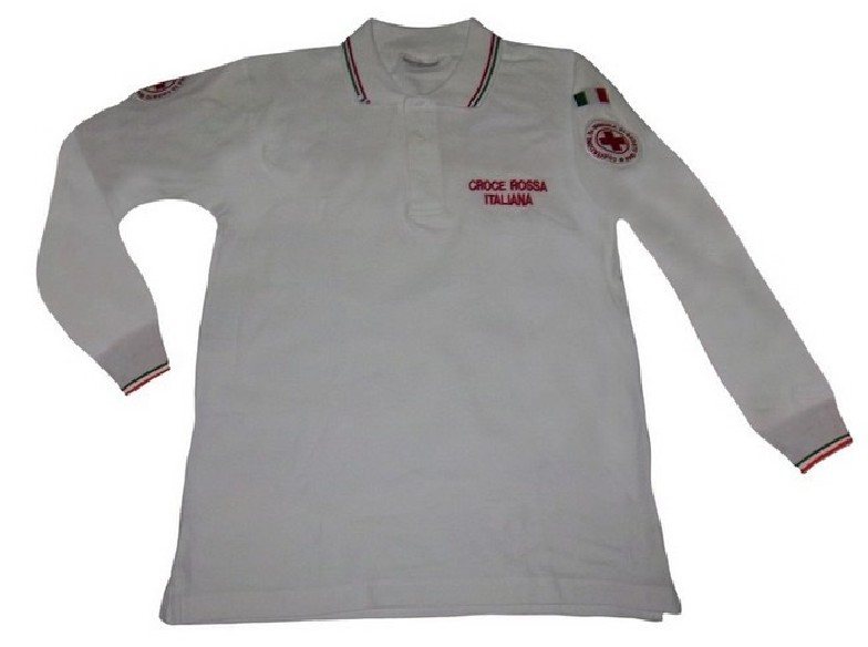 507T M/L POLO L/S RED CROSS