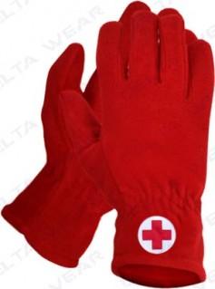winter gloves red cross