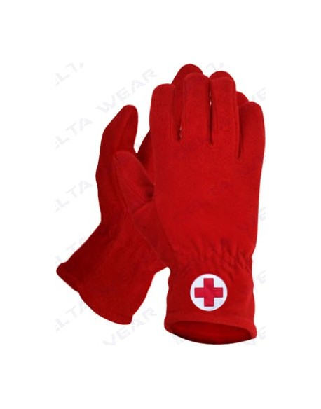 winter gloves red cross